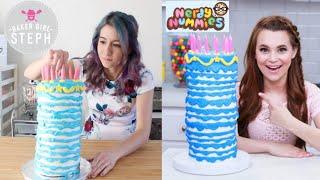 I tried following a NERDY NUMMIES recipe!    SLEEPING BEAUTY BIRTHDAY CAKE