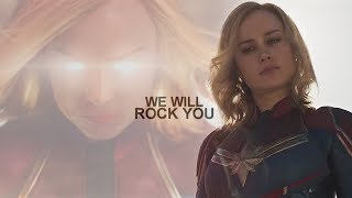 Captain Marvel || We Will Rock You