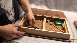 Wooden Book Art Box
