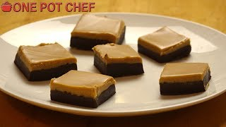 3 Ingredient Chocolate Peanut Butter Fudge | One Pot Chef