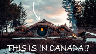 WE STAYED IN A REAL LIFE HOBBIT HOUSE... IN CANADA!? 🤯