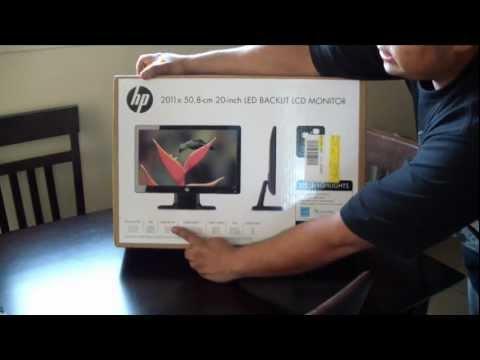 Unboxin de el monitor 2011x. HP de 20 pulgadas LCD