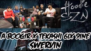"""A Boogie Wit Da Hoodie Ft  6ix 9ine """"Swervin"""" ReactionReview"""