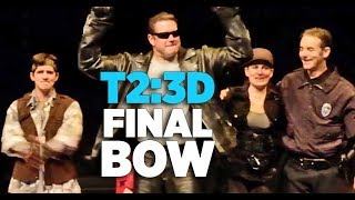 Terminator 2: 3D Final Bow - Cast Goodbye with T-800, Sarah Connor, John Connor at Universal Orlando