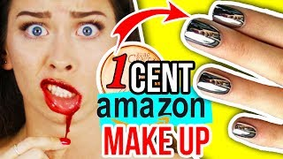 IRRE 1 CENT AMAZON BEAUTY PRODUKTE im LIVE TEST!! 😱😍 MAKE UP HAUL!