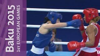 Katie Taylor wins the Women's Lightweight (57 - 60kg) Gold   Boxing   Baku 2015