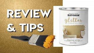 Rustoleum Glitter Paint Harvest Gold | How Well Does It Work? | Glitter Wall Demonstration (& Tips!)