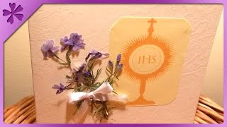 DIY First Communion Card (ENG Subtitles) - Speed up #8