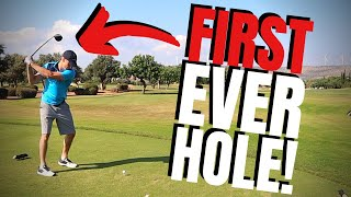 FIRST EVER TIME ON A GOLF COURSE!?