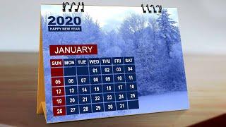 Desk Calendar Design In Photoshop Tutorial 2020