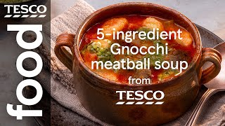 5-ingredient gnocchi meatball soup