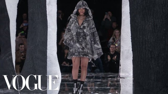 Watch Rihanna's Flawless British Reporter Accent & Her EPIC Fenty x Puma AW16 #RTW Show!