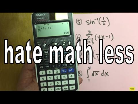 Casio FX-991 EX classwiz calculator tutorial (perfect for algebra, FE exam, EIT exam)