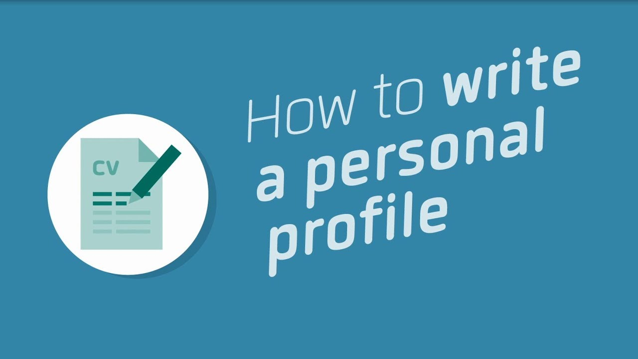 How to write a personal profile