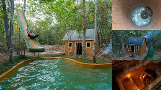 How To Build House, Underground Tunnel, Under Water Well House, Swimming Pool Slide Full Episode