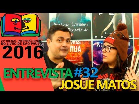 Entrevista com Josue Matos   Bienal do Livro 2016