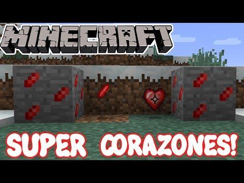Minecraft 1.11.2 MOD SUPER CORAZONES! Scaling Health Mod Español!