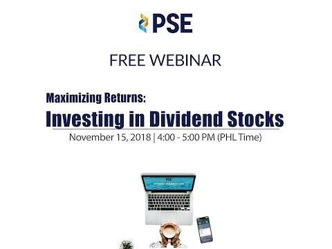 PSE's Free Webinar (Investing in Dividend Stocks) on November 15, 2018