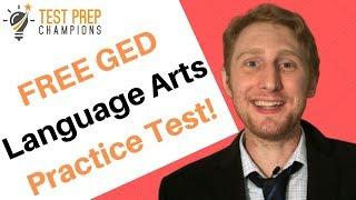 FREE GED Language Arts Practice Test 2020!