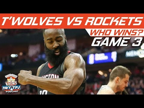 Houston Rockets vs Minnesota Timberwolves | Game 3 | Who will win ? | Hoops N Brews