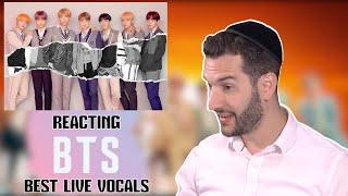 VOCAL COACH reacts to BTS best live vocals