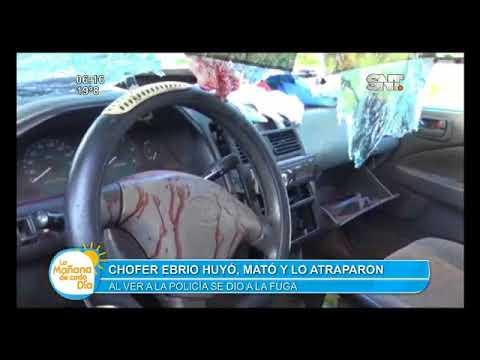 Chofer ebrio causó caos en el Alto Paraná