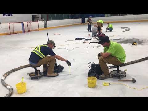 Hockey holds a special place in all of the Canadian Concrete Leveling teams hearts. When we heard that the local hockey rink wasn't functioning anymore because it had sunk and settled, we knew we had to help. Our crews drove 8 hours to Timmins on a weekend, and fixed the issue. Now Timmins will have their rink back just in time for hockey season!