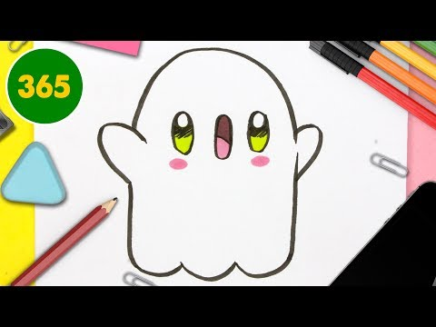 HOW TO DRAW A CUTE ghost KAWAII - special halloween-