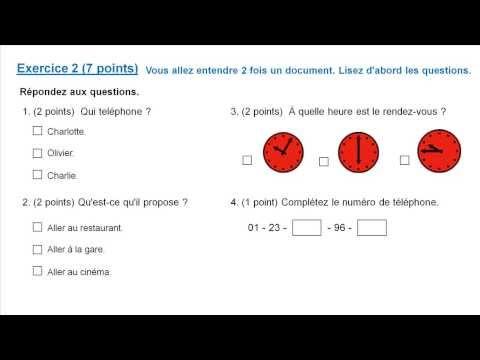 DELF A1: Examination - YouTube