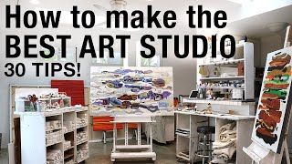 Art Studio Tour + Tips For Artists
