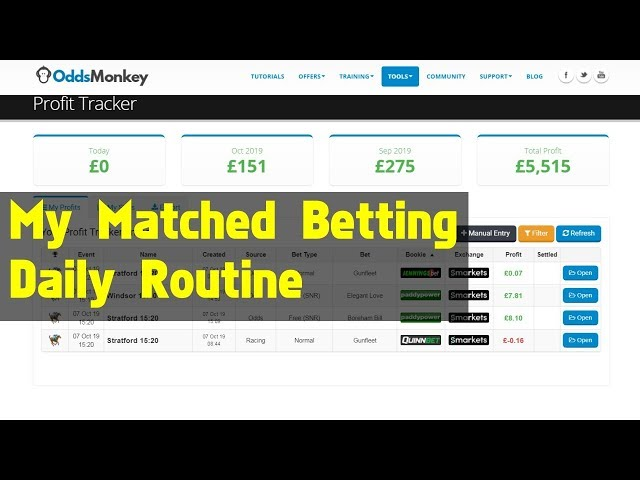 My Daily Matched Betting Routine