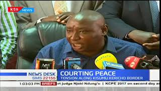 Kisumu-Kericho governors intervene as they call residents to maintain peace