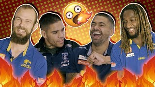 SEND HELP 🔥Freo Vs West Coast Eagles 🔥 Spicy Chip Challenge!!
