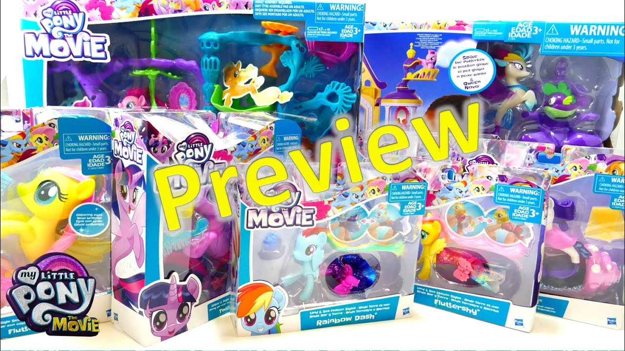 My Little Pony: The Movie Seapony Toys and Playsets Haul Preview