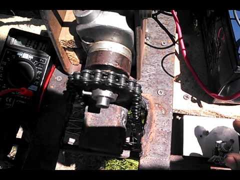 Электродвигатель для велосипеда ,испытание.