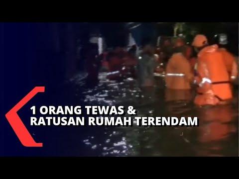 longsor orang tewas dan ratusan rumah terendam banjir di ciganjur