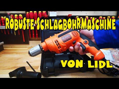 Lidl - Black & Decker Schlagbohrmaschine 710W BDB710 - Vorstellung und Einsatz