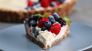 Dairy-Free Berries & Cream Tart