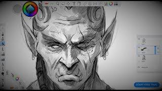Character Sketching In Autodesk Sketchbook Pro - Concept Art