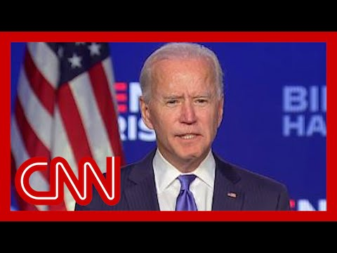 Joe Biden addresses nation as votes continue to be tallied