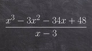 How to apply the long division algorithm divide two polynomials