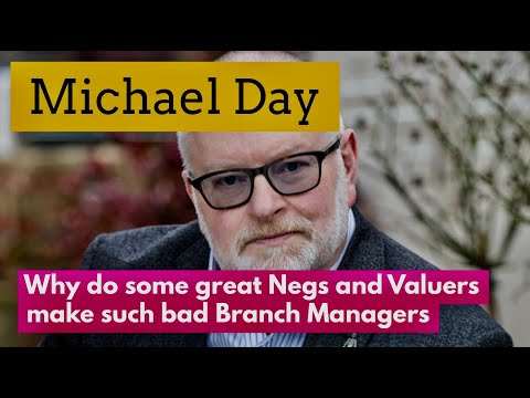 Why do good negotiators and valuers often make awful branch managers?