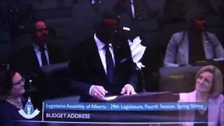 """Alberta Budget 2018 """"People with Disabilities on AISH excluded"""""""