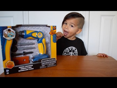 Just Like Home Workshop, Toy Review with RnL's World, Kids Power Tools