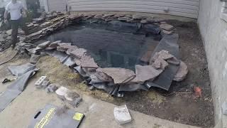 Fish / Koi Pond Build DIY - Time Lapse