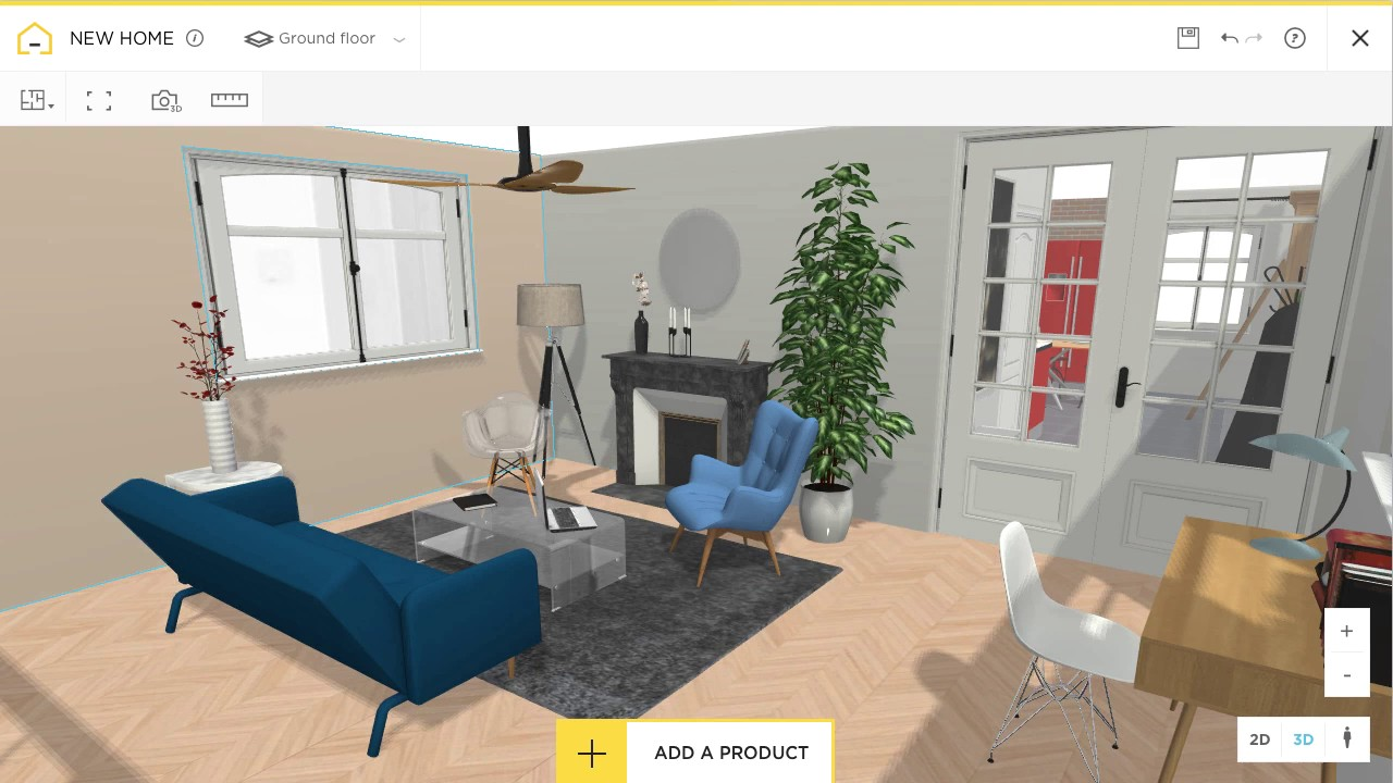 free and online 3d home design planner homebyme - 2d Interior Design