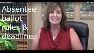 Absentee voting guide and deadlines