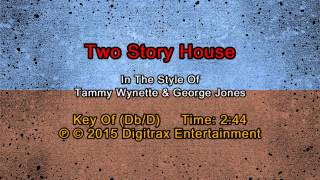 George Jones & Tammy Wynette - Two Story House (Backing Track)