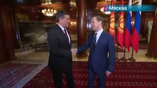 Сооронбай Жээнбеков впервые посетил Москву в качестве президента Кыргызской республики
