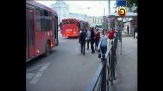 Девушку зажало между автобусами